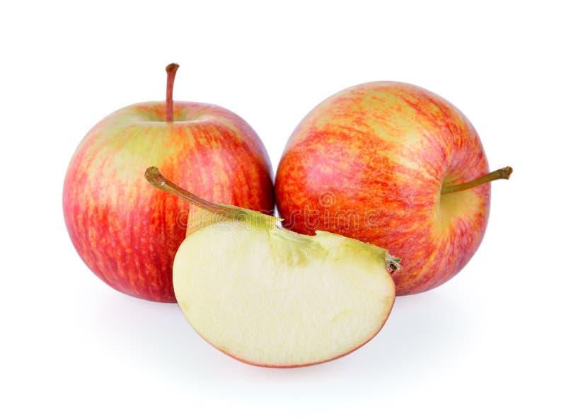 Appel op witte achtergrond stock afbeelding