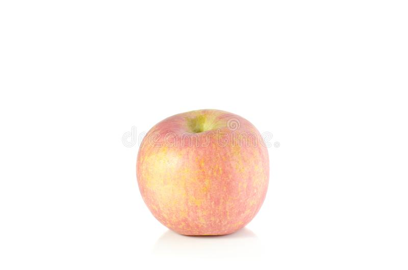 Appel op witte achtergrond stock foto