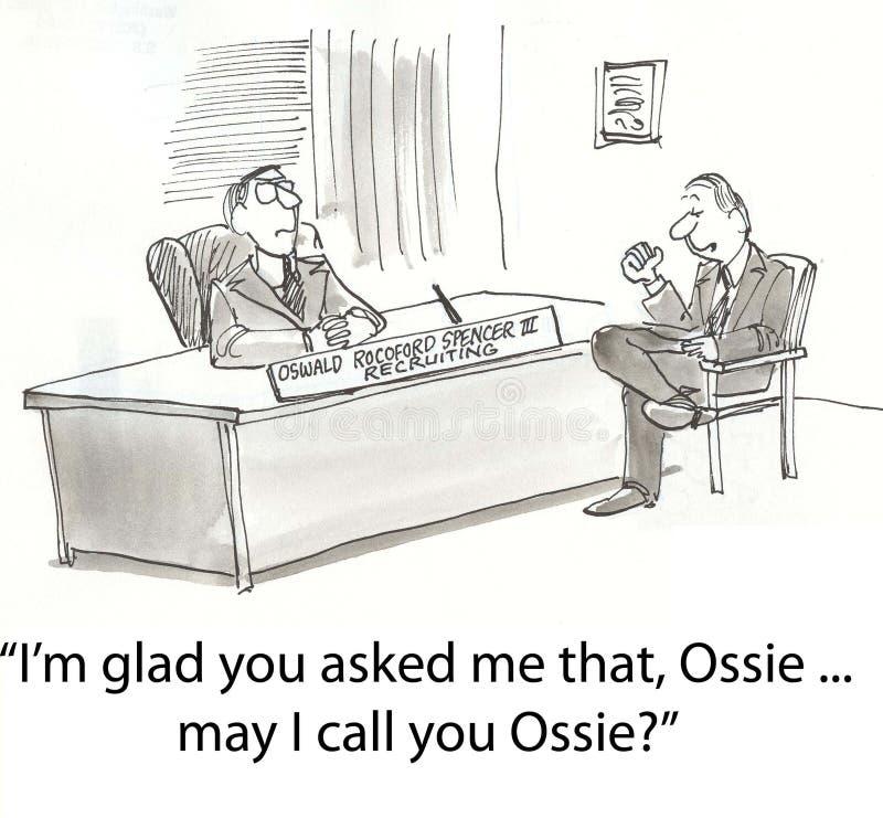 Appel Ossie illustration libre de droits