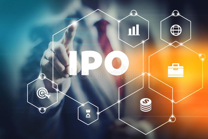 Appel public à l'épargne initial d'IPO photographie stock
