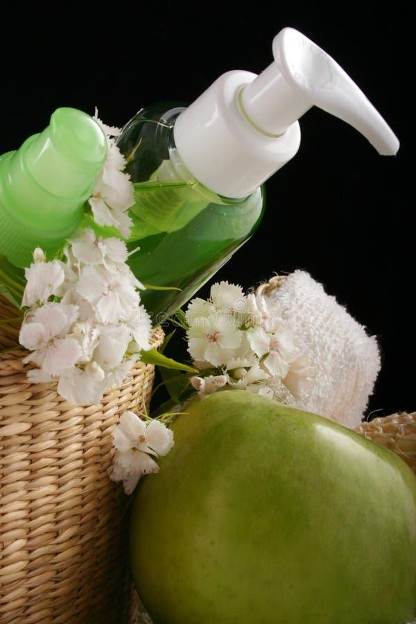 Appel - schoonheidsmiddelen stock foto's