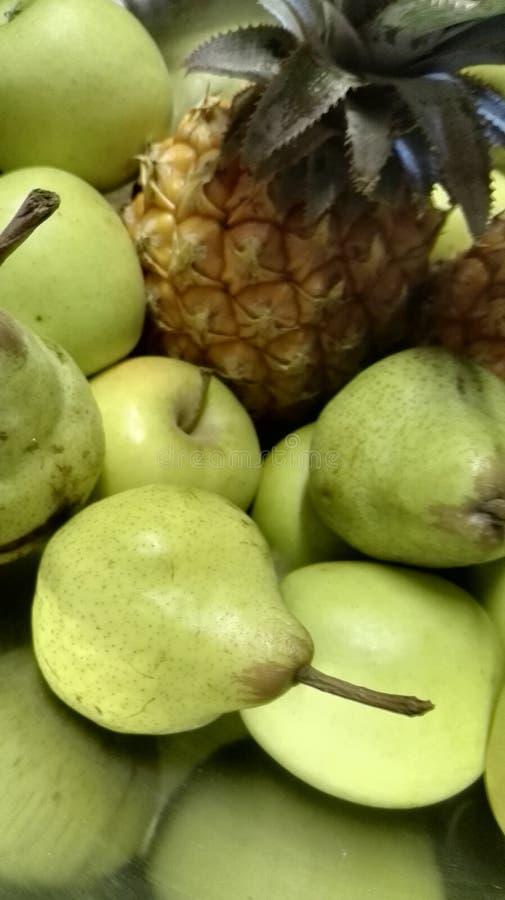 Appel splittring sörjer äpplen royaltyfria bilder