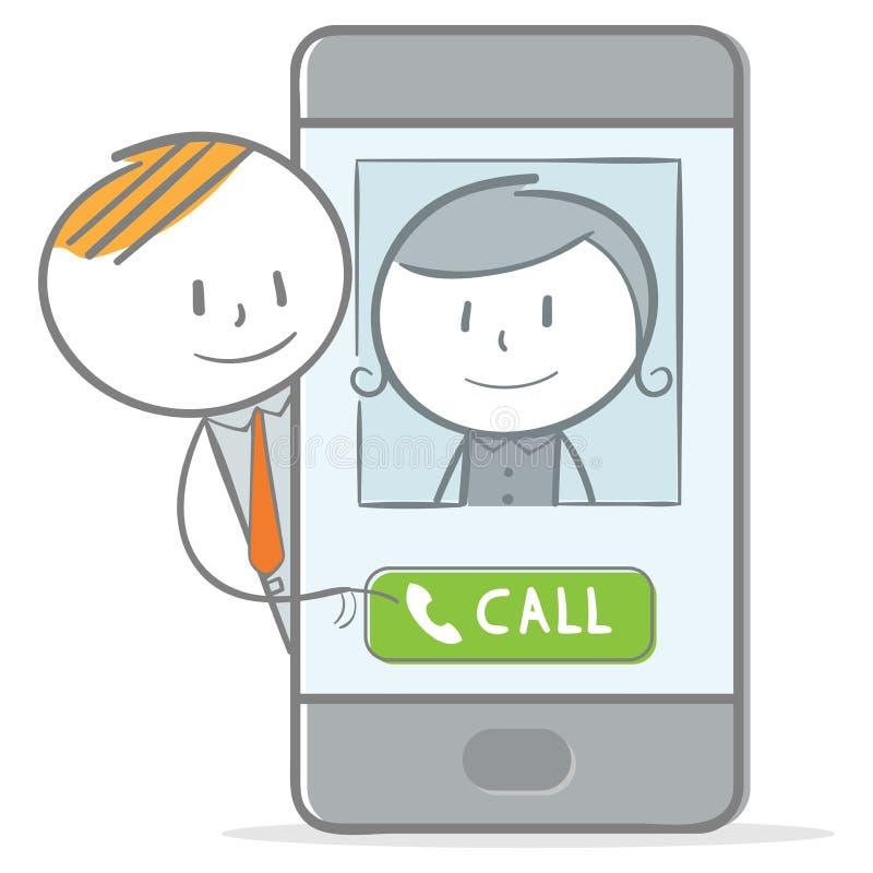 Appel téléphonique illustration libre de droits