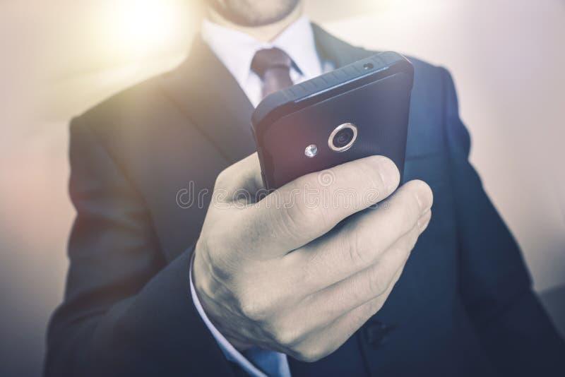 Appel téléphonique d'affaires photos stock
