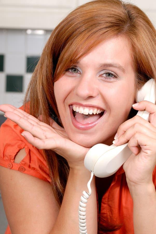 Appel téléphonique de surprise photographie stock