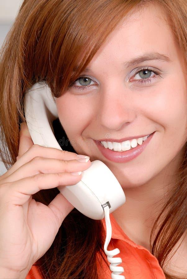Appel téléphonique heureux images libres de droits