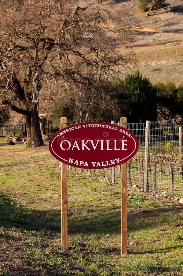 Appelation de AVA de Oakville foto de stock royalty free