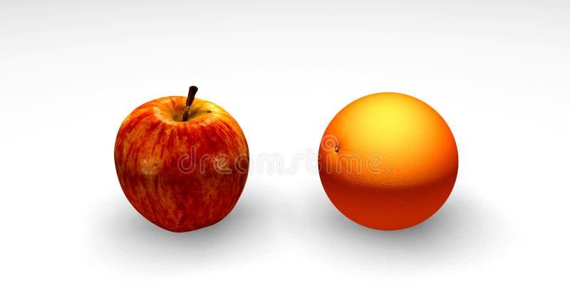 Appelen en Sinaasappelen stock illustratie