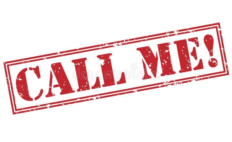Appelez-moi ! timbre rouge photographie stock libre de droits