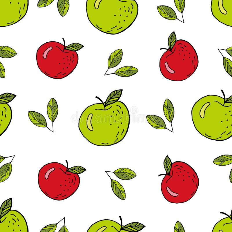 Appelgroen en Rood stock illustratie