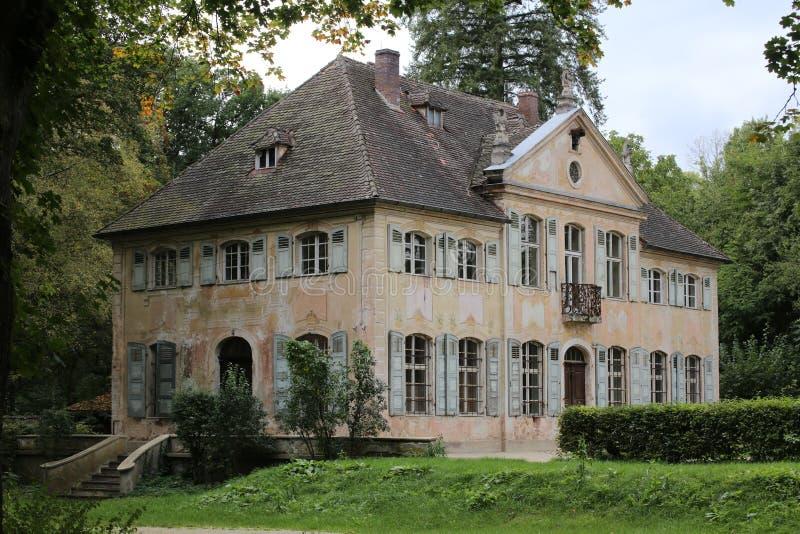 Appelhof, una proprietà terriera di rococò ha elencato ufficialmente come monumento, vicino a Allersberg in Baviera fotografia stock libera da diritti