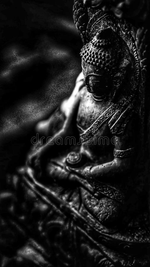 Appell för buddism för Buddhablack&whitelugn arkivfoto