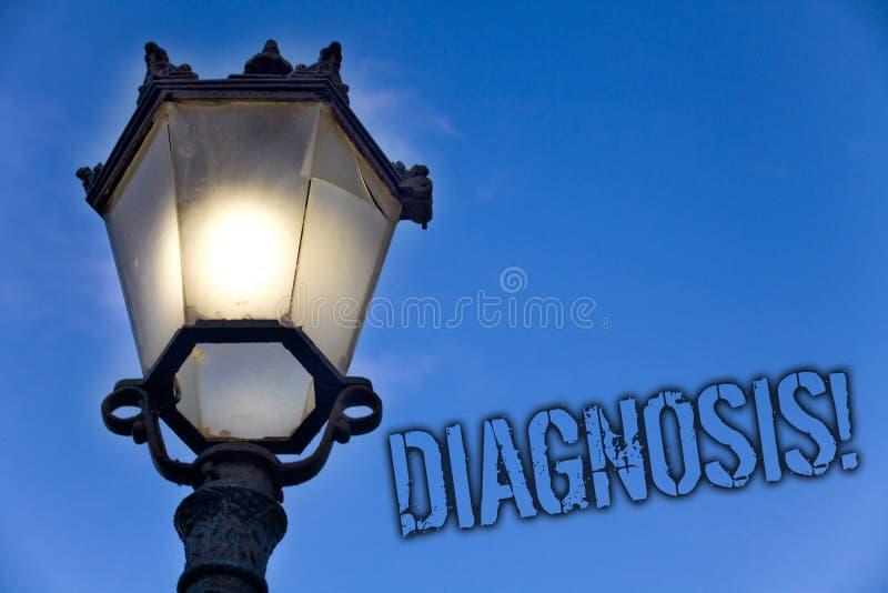 Appell för diagnos för textteckenvisning Motivational Begreppsmässig fotodom om särskild blå himmel för sjukdom- eller villkorlju arkivbild
