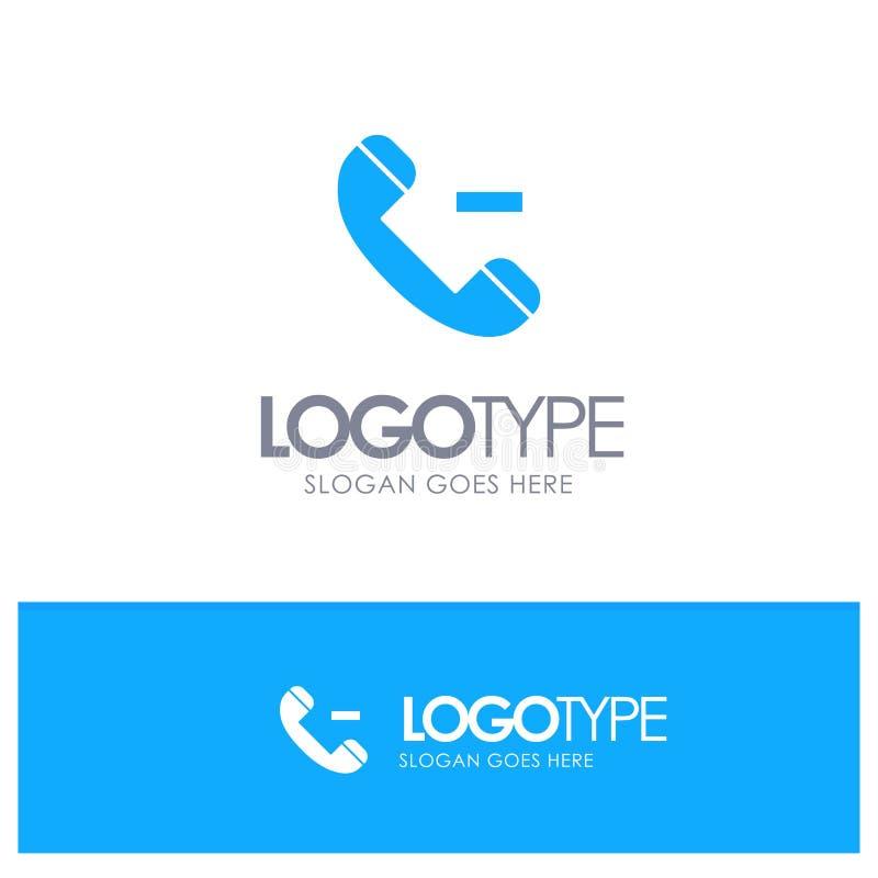 Appell kontakt, blå fast logo för borttagnings med stället för tagline vektor illustrationer