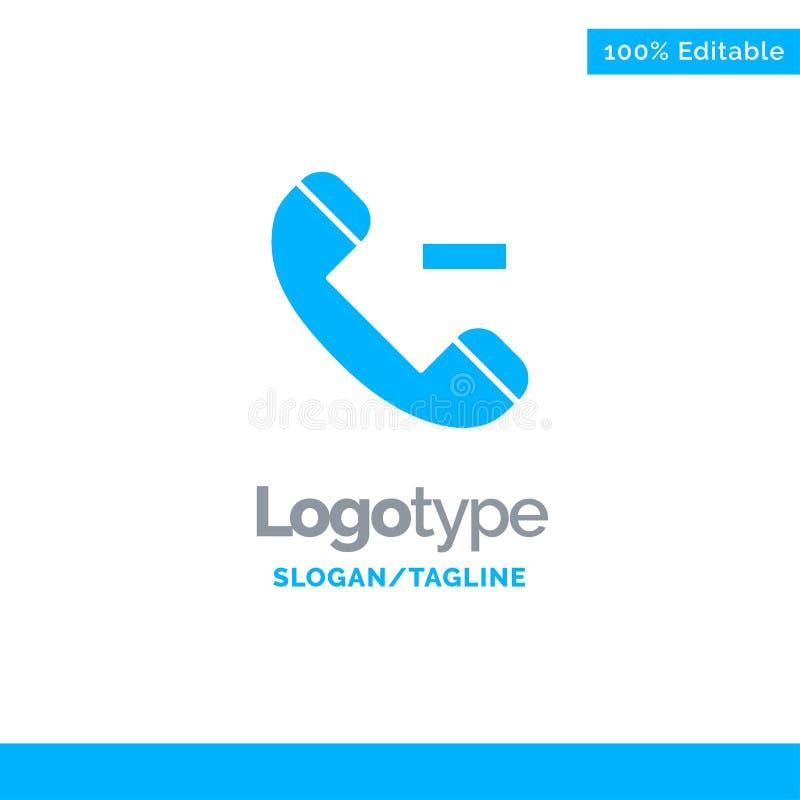 Appell kontakt, borttagnings blåa fasta Logo Template St?lle f?r Tagline vektor illustrationer