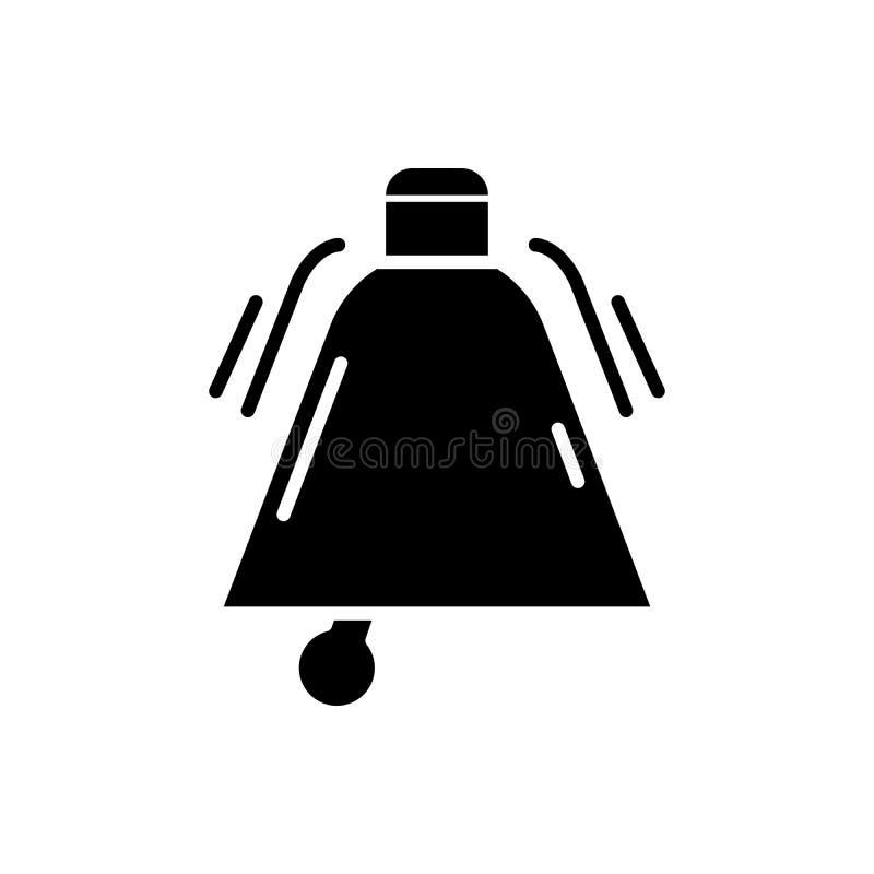 Appell till begreppet för handlingsvartsymbol Appell till symbolet för handlinglägenhetvektor, tecken, illustration stock illustrationer
