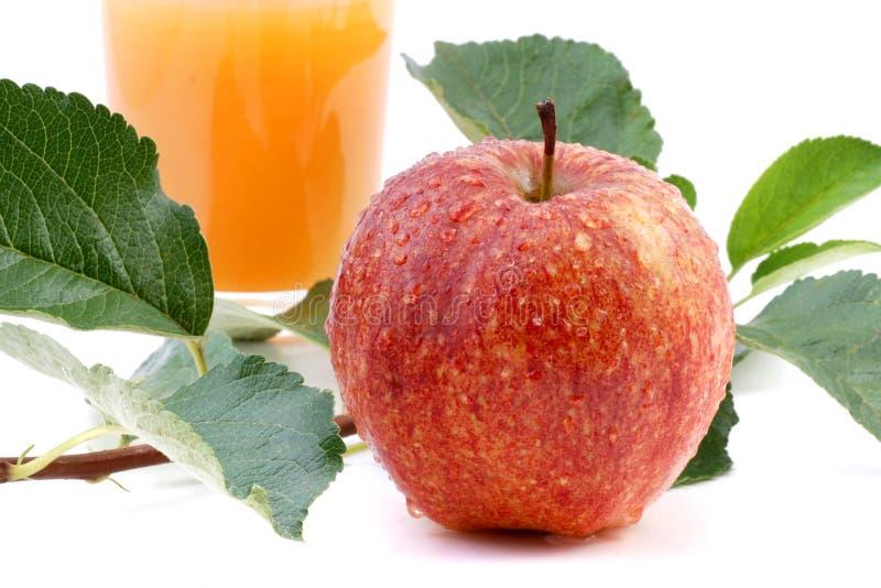 Appelsap en appel royalty-vrije stock afbeeldingen