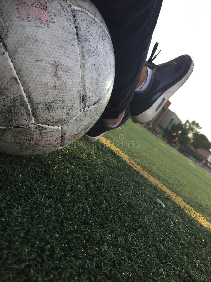 Appena un giorno di calcio fotografie stock libere da diritti
