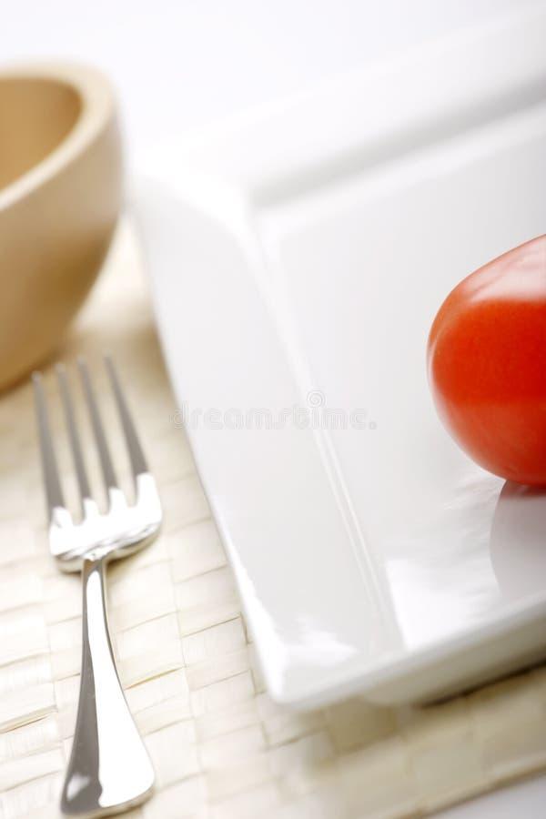 Appena un pomodoro fotografia stock