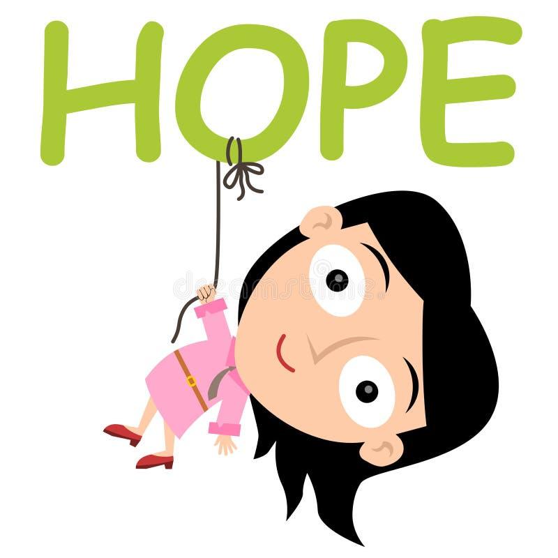 Appendendo sulla speranza royalty illustrazione gratis