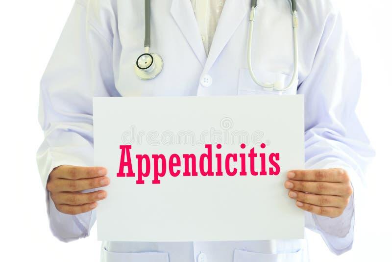 Appendicitsjukdom arkivbild