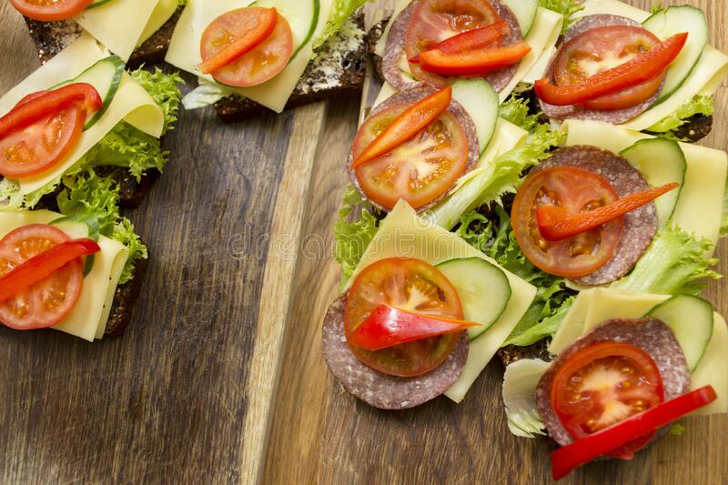 Appetizer preparation in kitchen stock images