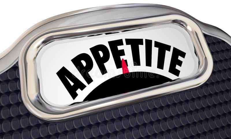 Appetit-Skala-Beschränkungs-Hunger-Diät verlieren Gewicht lizenzfreie abbildung