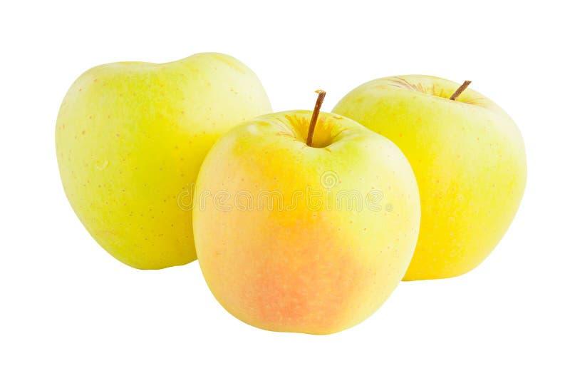 Appetitanregende frische saftige Äpfel auf weißem Hintergrund lizenzfreies stockfoto