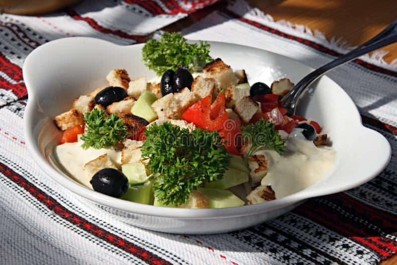 Appetitanregender Salat auf einer Platte lizenzfreie stockbilder