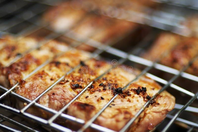 Appetitanregender Schweinefleischgrill stockfoto