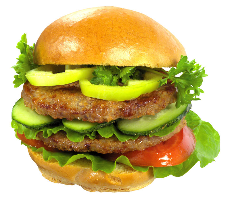 Appetite Gamburger Royalty Free Stock Photo