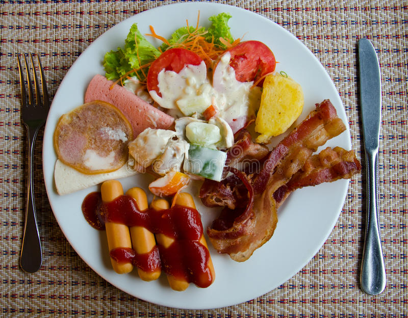 Appetizer. A delicious breakfast. Rich in protein, vitamins stock photography