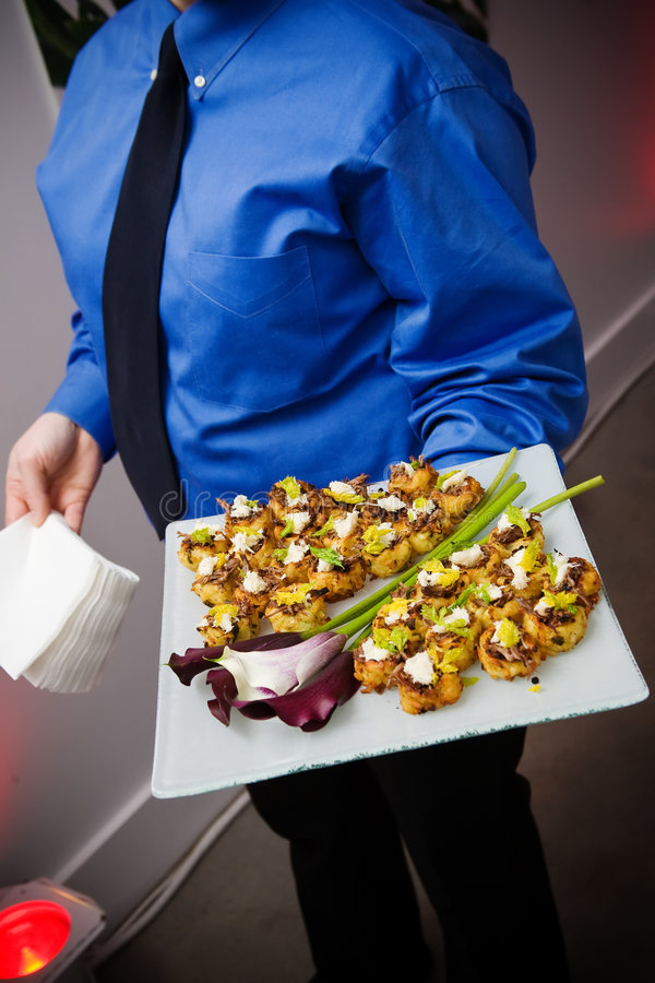 Appetizer being served royalty free stock photography