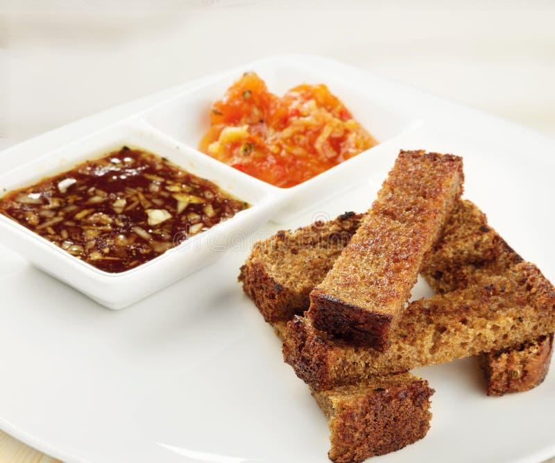 Appetizer. Bruschetta Antipasto Food Italian Culture Canape brushetta royalty free stock images