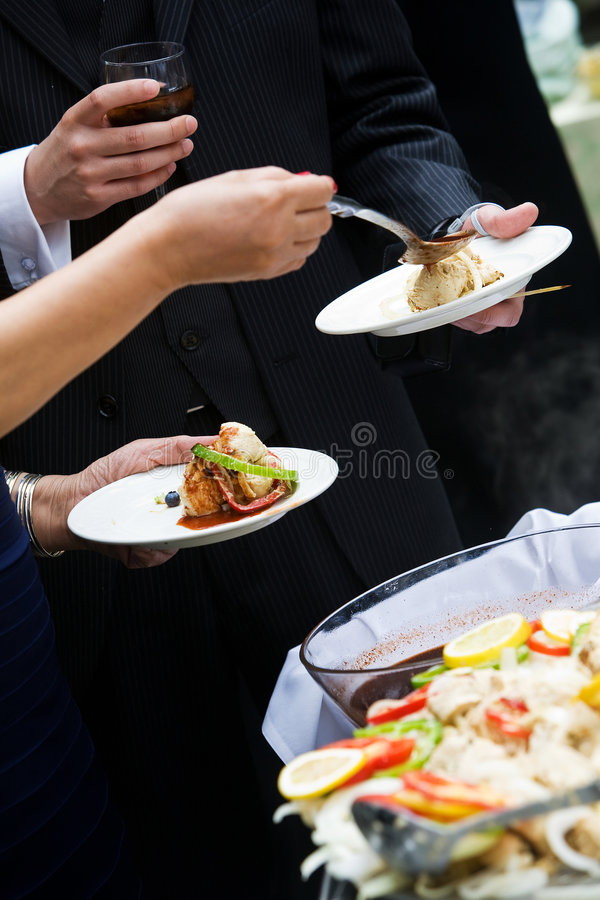 Appetizer during a catered party or event royalty free stock images