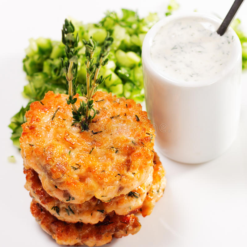 Download Appetizer - Mini Salmon Steak Stock Image - Image: 10918913