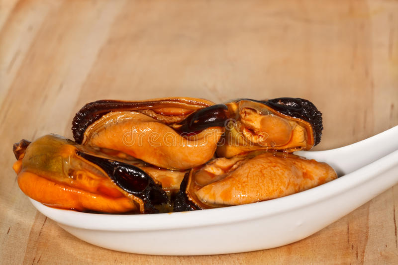 Appetizer of Mussels royalty free stock photos