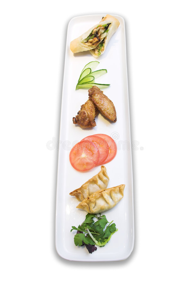 Download Appetizer Plate stock image. Image of vietnamese, green - 689677