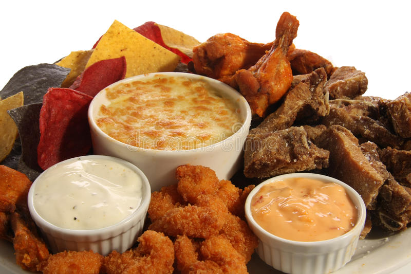 Download Appetizer platter stock photo. Image of greasy, wings - 13194860
