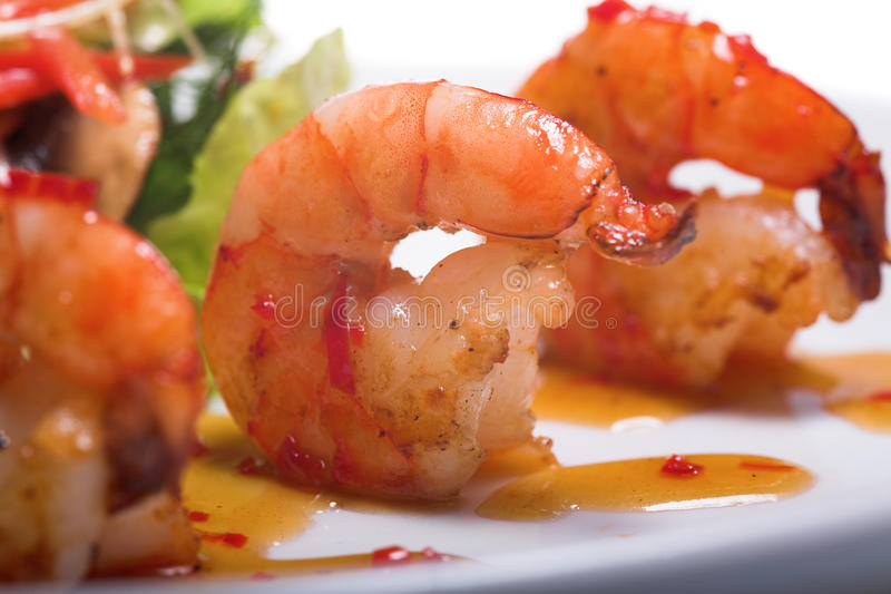 Download Appetizer with shrimps stock image. Image of close, closeup - 10718967