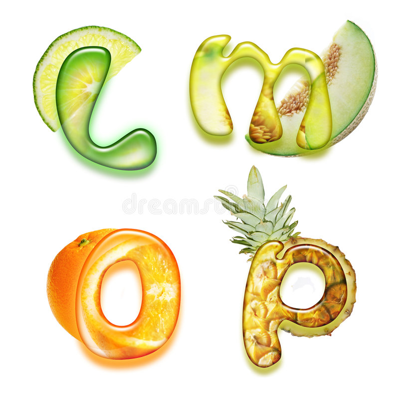 Appetizing Alphabet 2 Stock Images