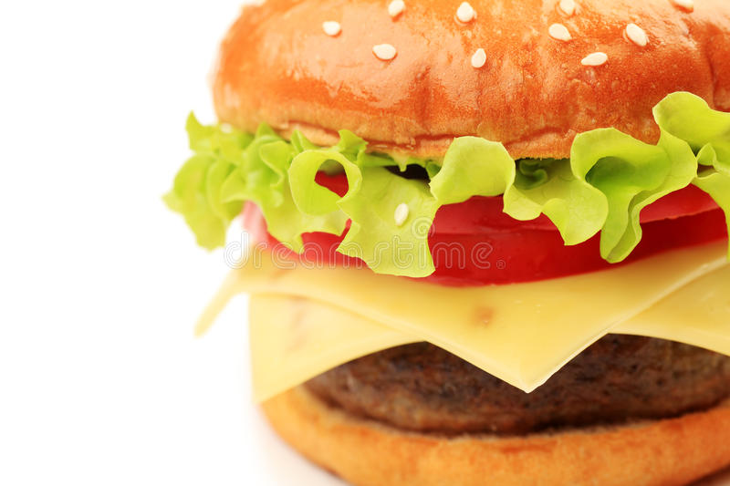 Download Appetizing cheeseburger stock photo. Image of grilled - 17414198