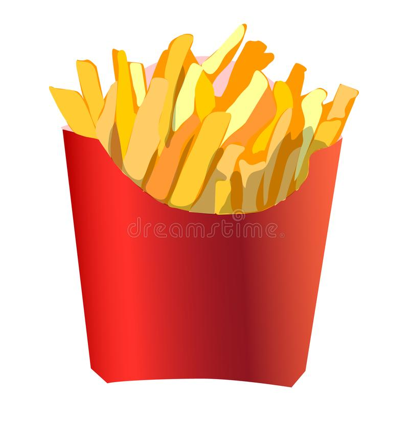 Appetizing and delicious french fries stock images