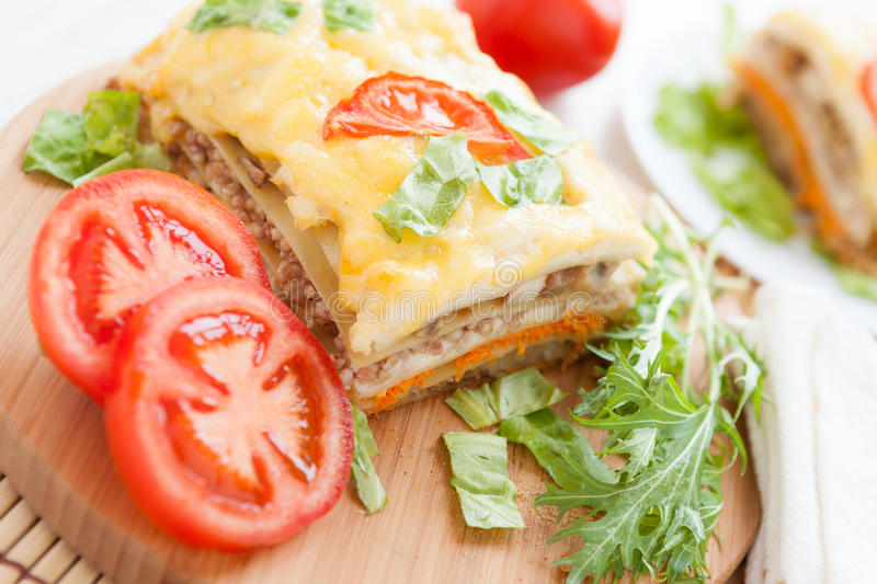 Download Appetizing And Flavorful Lasagna Stock Image - Image: 29497109
