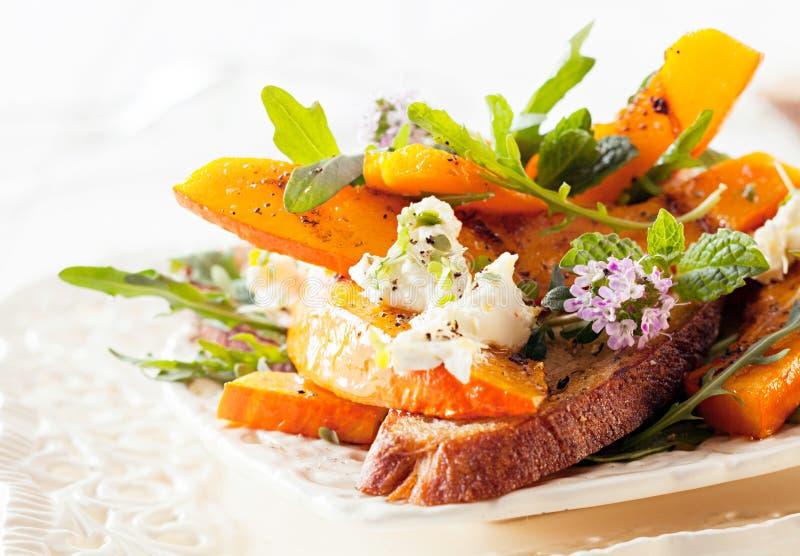 Appetizing Gourmet Hokkaido Rocket Salad royalty free stock photo