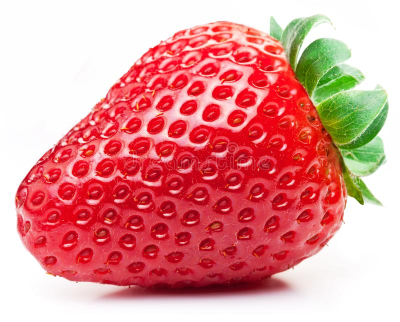 Appetizing strawberry on a white. royalty free stock photo