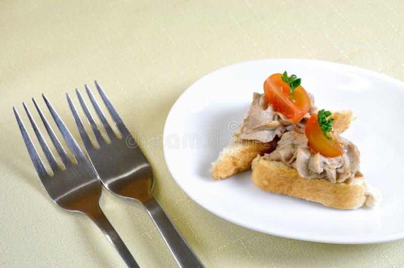 Appetizzer Couvert Krkonosske стоковое фото