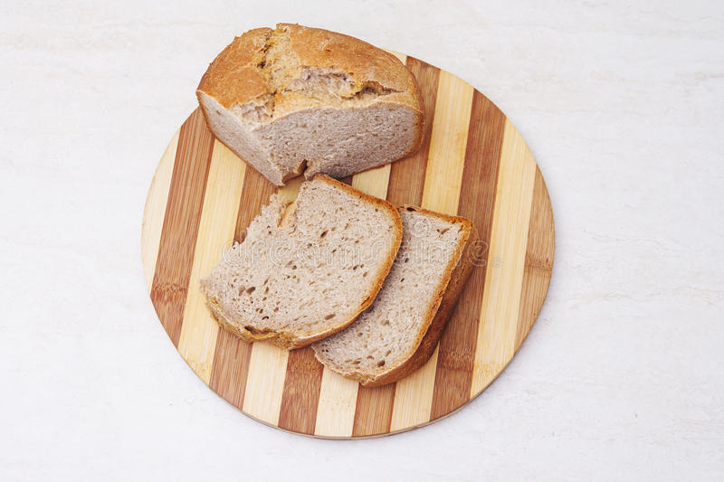 Appetzing sliced homemade bread on table stock photography