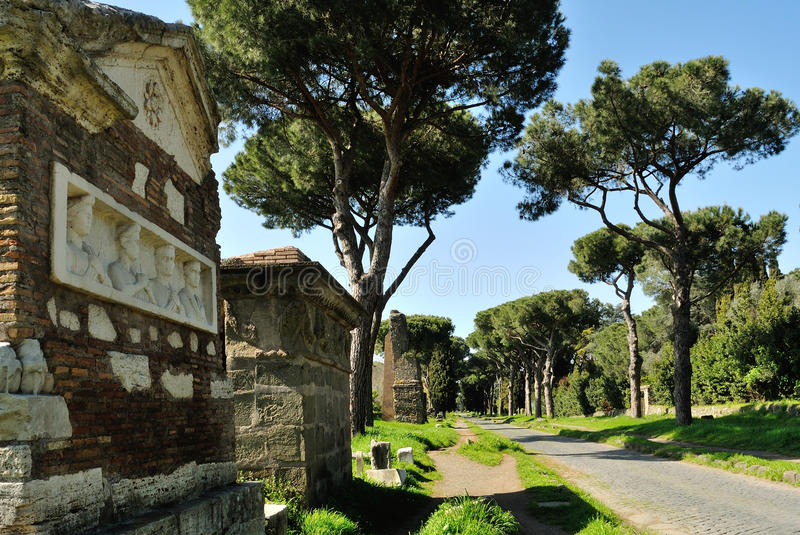Appia Antica Street. In Rome royalty free stock photography