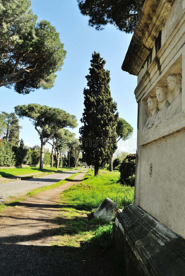 Appia Antica Street. In Rome royalty free stock photos